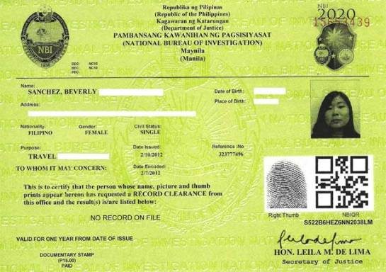 Nbi Clearance Application Esc